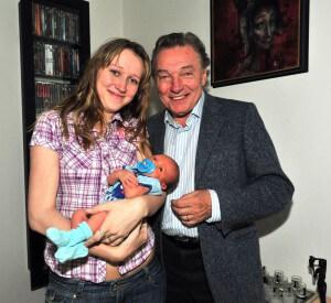 Lucie Gottová Kovaříková s vnoučetem Karla Gotta