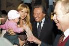 Ivana Gottová s dcerou a Karel Gott, Václav Havel