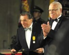 Karel Gott a Václav Klaus - státní vyznamenání
